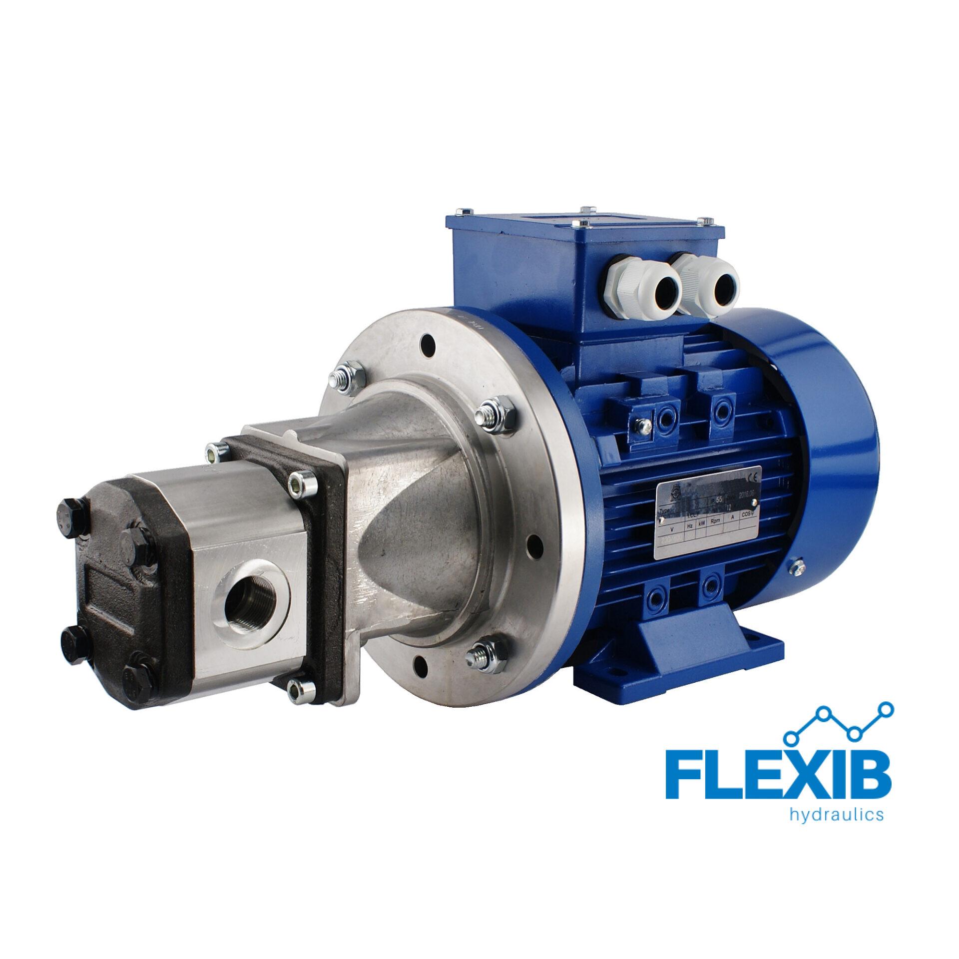 Hüdropump + 3 faasiline elektrimootor 380V 5.5kW Vaheflants, sidur ja võlli flants 12L / min CIA max rõhk: 24MPa 12L / min 12L / min