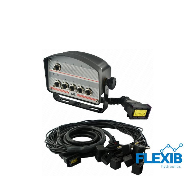 Juhtpaneel 6 lülitit juhtmed I pistikud hüdraulilisele jagajale 12V Elektrilised juhtpaneelid 12V Elektrilised juhtpaneelid