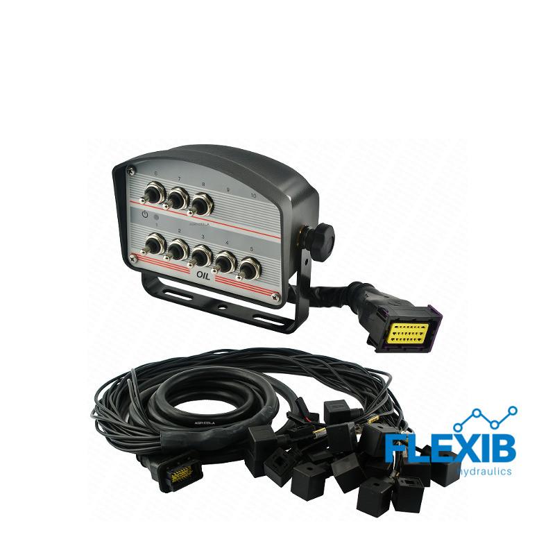 Juhtpaneel 8 lülitit juhtmed I pistikud hüdraulilisele jagajale 12V Elektrilised juhtpaneelid 12V Elektrilised juhtpaneelid