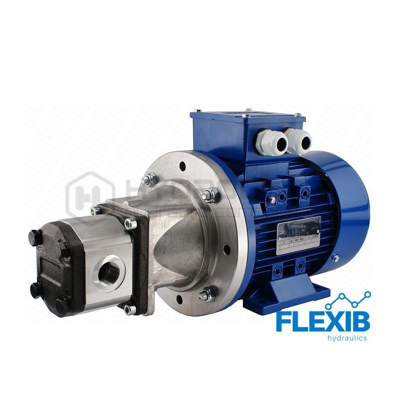 Hüdropump + 3 faasiline elektrimootor 380V 7.5kW Vaheflants, sidur ja võlli flants 15L / min CIA max rõhk: 24MPa 15L / min 15L / min