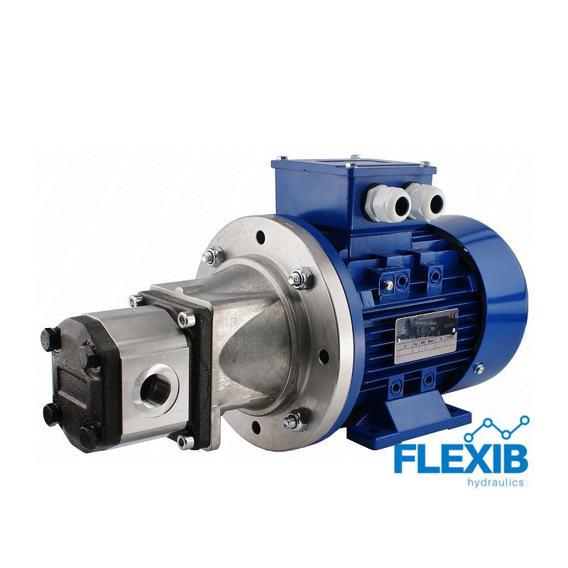 Hüdropump + 3 faasiline elektrimootor 380V 1,1 kW Vaheflants, sidur ja võlli flants, 6L / min, max rõhk CIA: 10 MPa 6L / min 6L / min