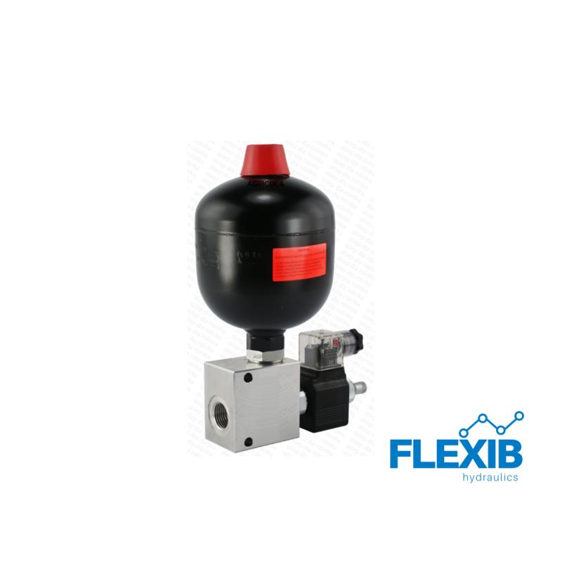 Hüdroaku 0.75L 100bar CYM elektrilise kraaniga 230V 230V Hüdroklapiga 230V Hüdroklapiga