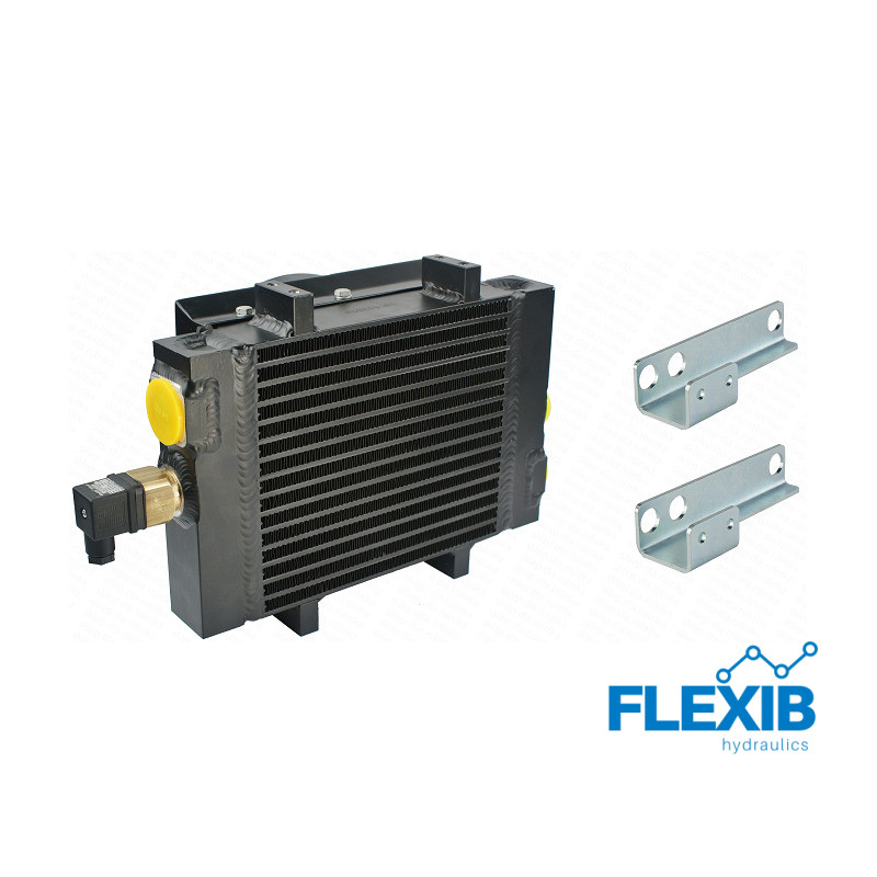 Õliradiaator  ST50 ventilaator ja termostaat, 12Vnnituspunktidegaga 12V jahutusega õliradiaatorid 12V jahutusega õliradiaatorid