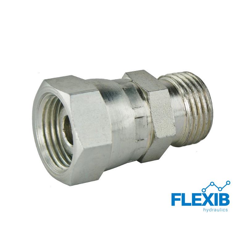 Hüdroühendus muhv tüüp AB meeterKeere: 18×1.5 – 18×1.5 AB Hüdraulika ühendused AB Hüdraulika ühendused