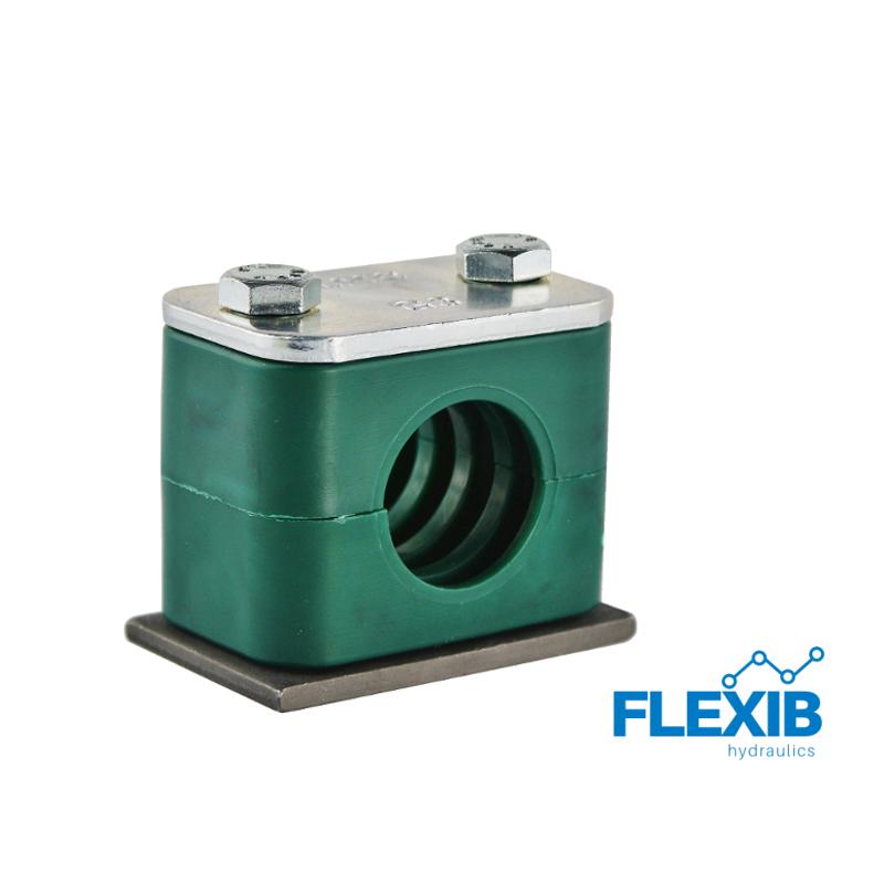 Hüdrovooliku klamber 22mm roheline Hüdrovoolikute ja torude kinnitused ja klambrid Hüdraulika tarvikud
