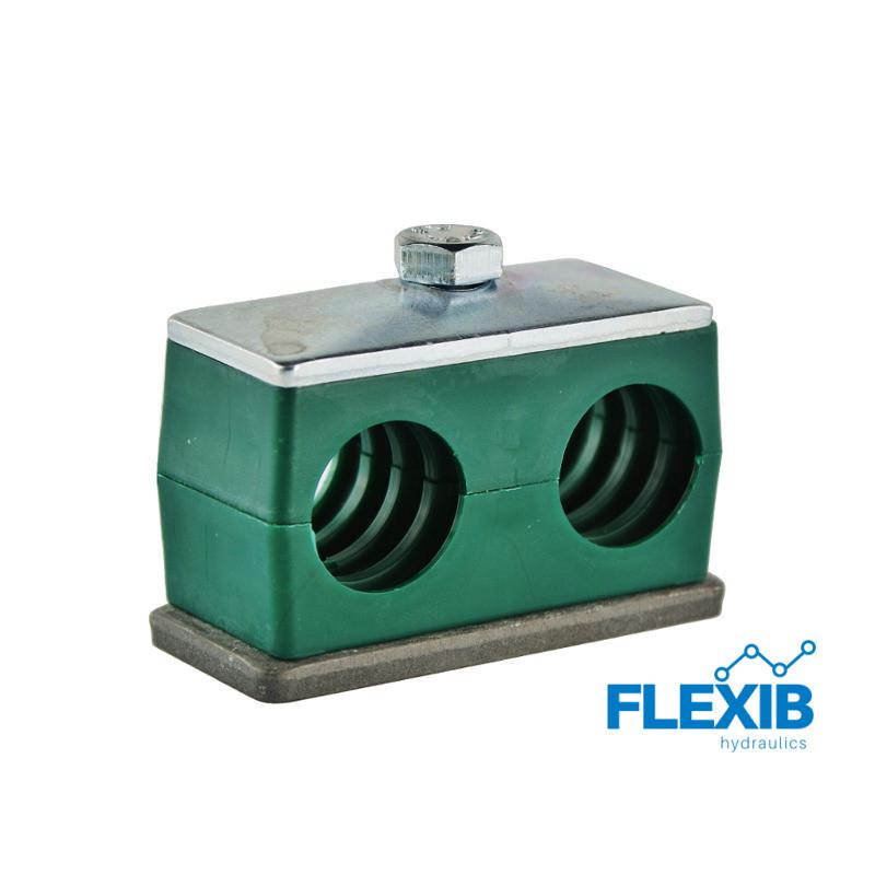 Hüdrovooliku klamber 20mm roheline Hüdrovoolikute ja torude kinnitused ja klambrid Hüdraulika tarvikud