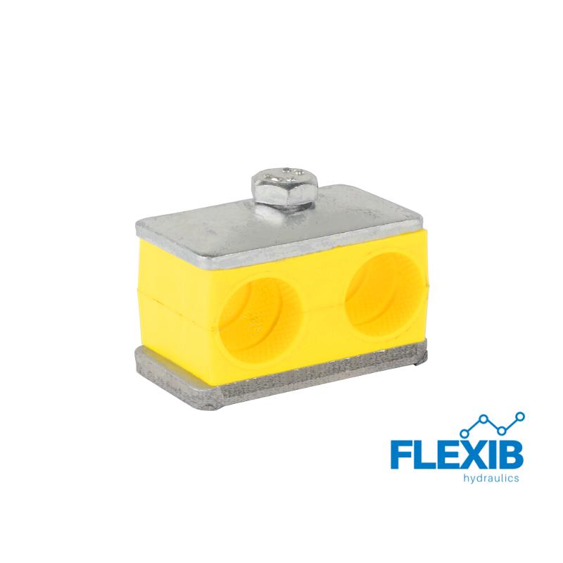 Klamber hüdrovooliku hüdrotoru auk 12 mm toru Hüdrovoolikute ja torude kinnitused ja klambrid Hüdraulika tarvikud