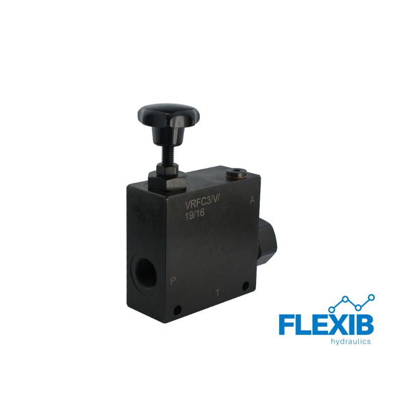Vooluühtlusti Klapp VRFC3 Keere: 1/2  max: 85l / min Maksimaalne rõhk: 350bar Kuni 85l / min Hüdroklapid