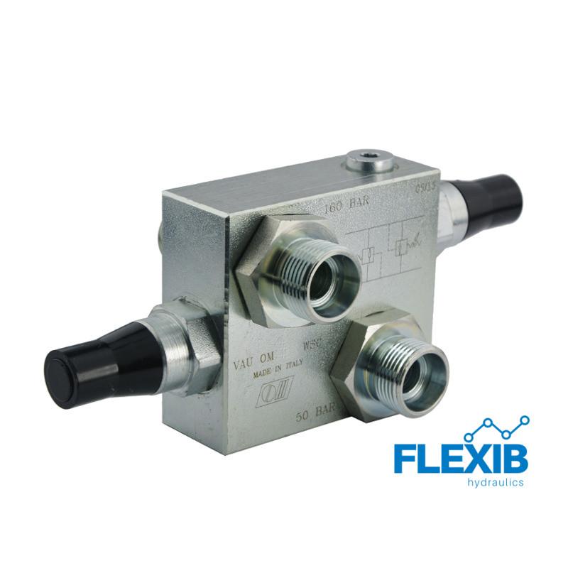 Ülevoolu klapp, reguleeritav Keere: 1/2  60L / min  50-200bar Hüdroklapid hüdromootoritele Hüdroklapid
