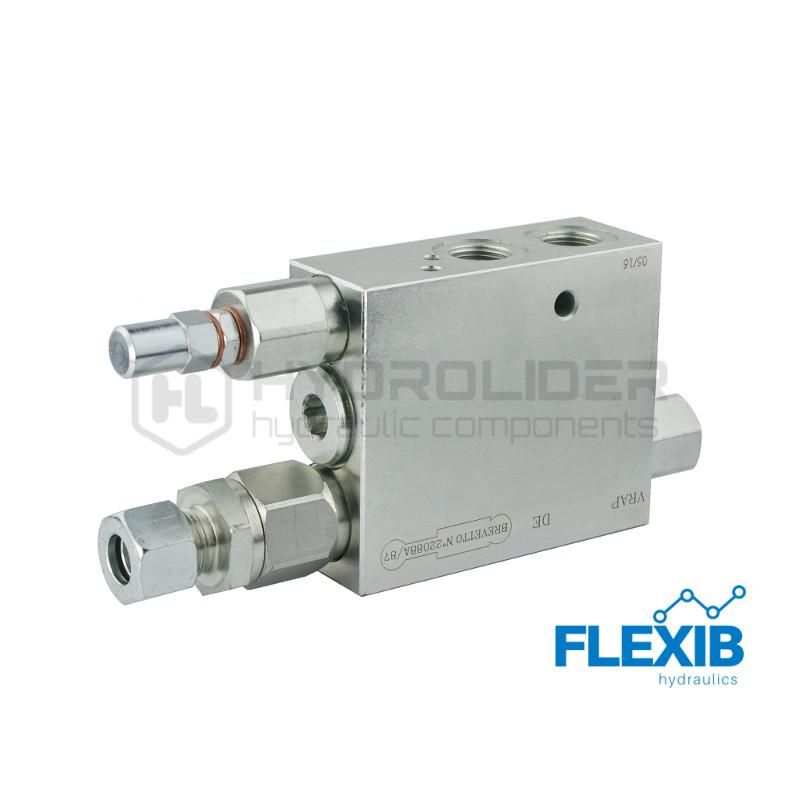 """Hüdroklapp VRAP80 / 100 Keere: 3/8 """" Maksimaalne rõhk: 250 Bar Rotatsiooniklapid Hüdroklapid"""