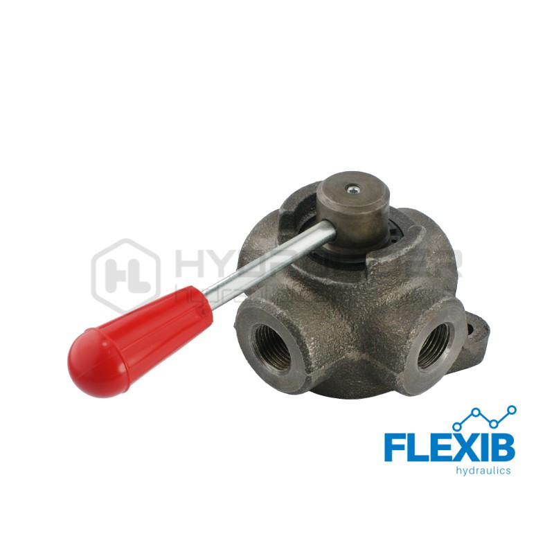 Hüdrokraan Tüüp: kuul, 4-suunaline, sisekeere 3/4″  100 l / min Maksimaalne rõhk: 250 Bar Käsikraaniga hüdroklapid Hüdroklapid