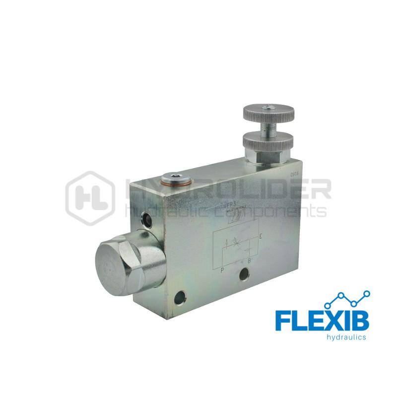 Hüdraulika voolu regulaator Keere: 3/4  120L / min Maksimaalne rõhk: 350bar Vooluhulgaregulaatorid Hüdroklapid