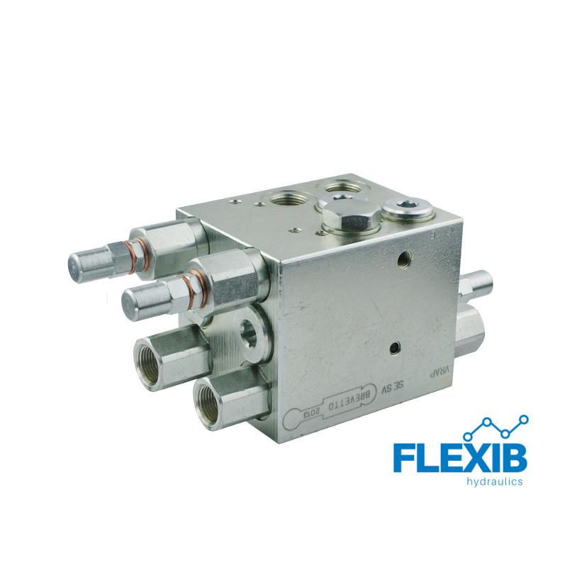 """Kahesilindriline pöördadra klapp VRAP80 / 100 keermed: 3/8 """" Maksimaalne rõhk: 230bar Rotatsiooniklapid Hüdroklapid"""