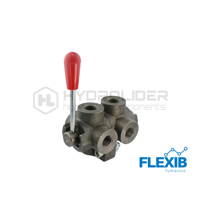 Hüdrokraan , tüüp: kuul, 6-suunaline 6/2, Sisekeere 1/2″ 60L / min Maksimaalne rõhk: 250 Bar Käsikraaniga hüdroklapid Hüdroklapid