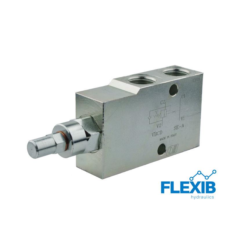 Hüdroklapp VBCD SE-A Keere: 1/2  60L / min Maksimaalne rõhk: 350bar Turvaklapid Hüdroklapid