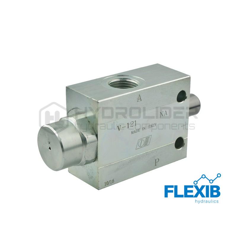 Hüdroklapp, normaal olek: Suletud VF-V NC-101 Keere: 3/8  50L  maksimaalne rõhk: 350bar Tavapäraselt suletud klapid Hüdroklapid