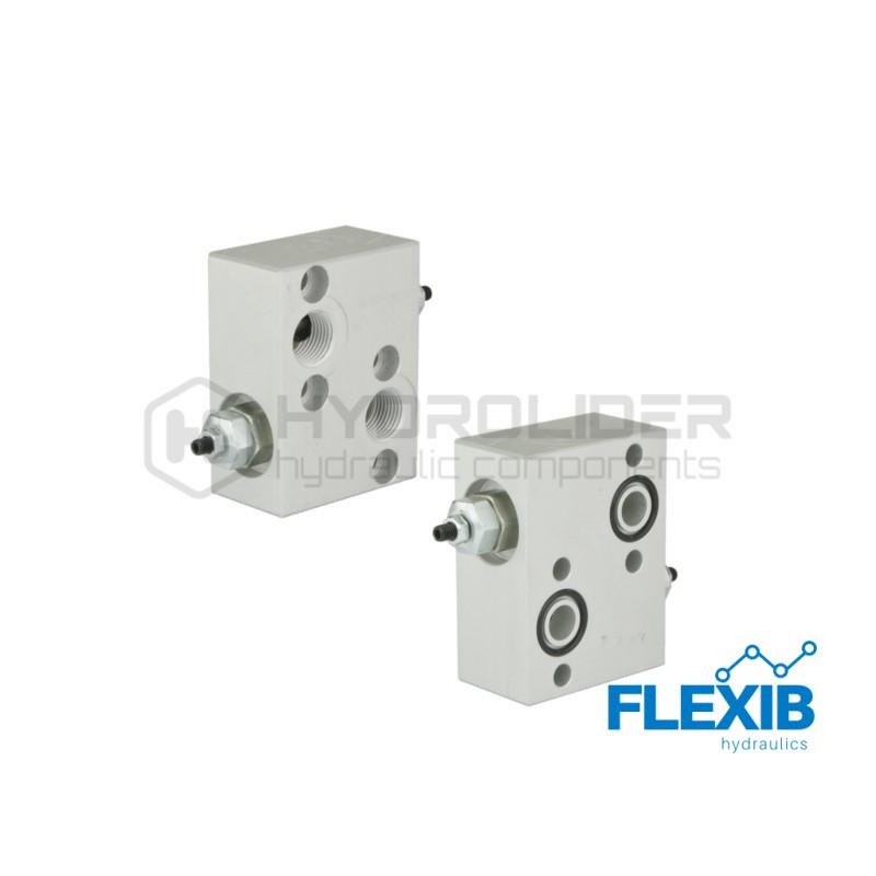 Ülevoolu klapp, reguleeritav Keere: 1/2  60L / min  50-200bar (1) Hüdroklapid hüdromootoritele Hüdroklapid