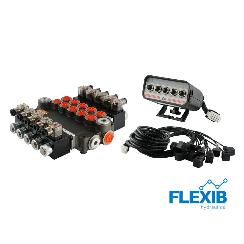 Hüdrauliline jagaja 9-sektsiooni CETOP 03 NG6 12V elektriliselt juhitav 12V 12V