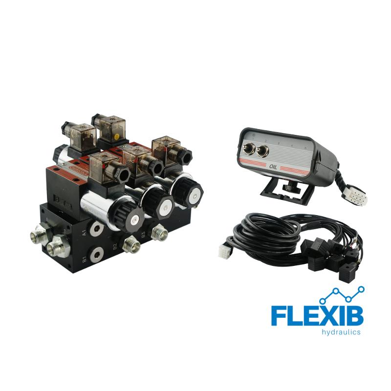 Hüdrauliline jagaja 2-sektsiooni CETOP 03 NG6 12V elektriliselt juhitav 12V 12V
