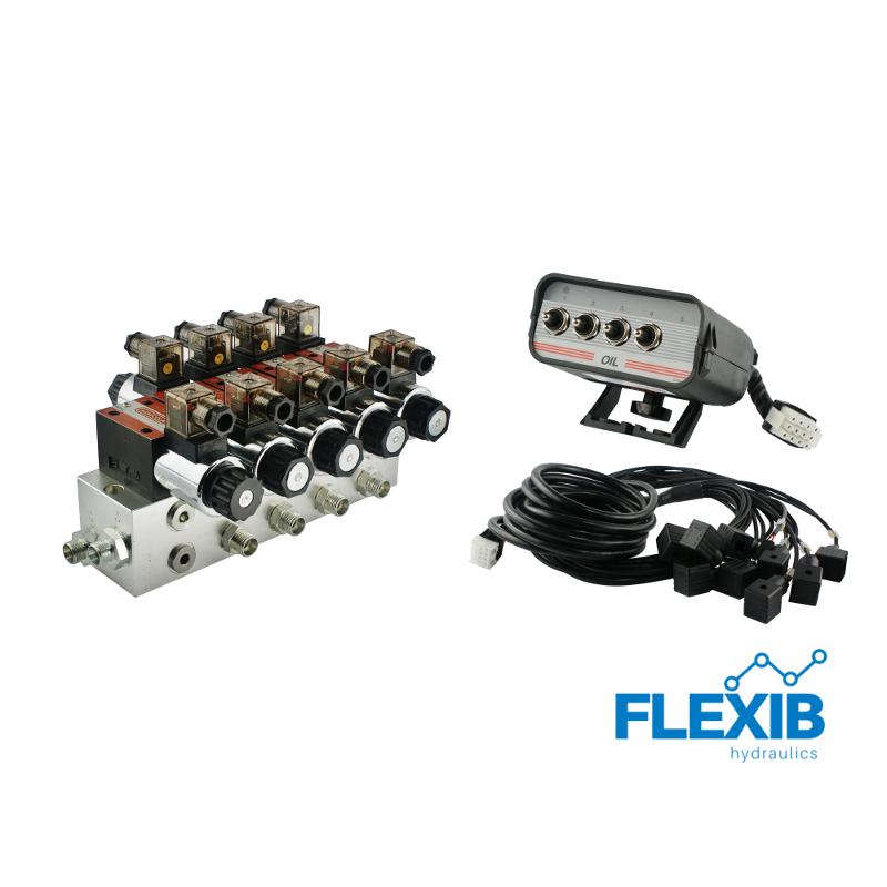 Hüdrauliline jagaja 4-sektsiooni CETOP 03 NG6 24V elektriliselt juhitav Elektriliselt juhitavad hüdrojagajad 24V Elektriliselt juhitavad hüdrojagajad 24V