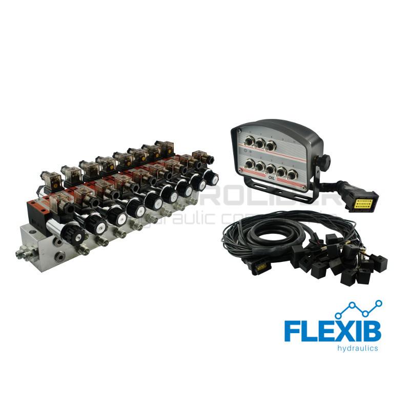 Hüdrauliline jagaja 8-sektsiooni CETOP 03 NG6 24V elektriliselt juhitav Elektriliselt juhitavad hüdrojagajad 24V Elektriliselt juhitavad hüdrojagajad 24V
