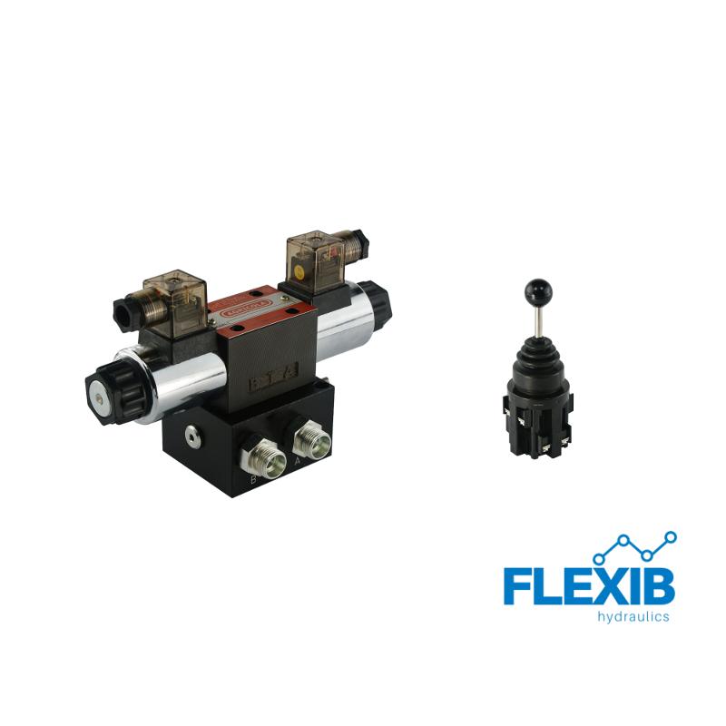 Hüdrauliline jagaja 1-sektsiooniline CETOP 03 NG6 elektriliselt juhitav 24V + elektriline joystick CETOP 3NG 6 CETOP 3NG 6