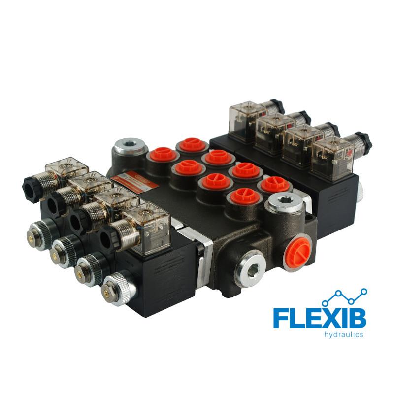 Hüdrauliline jagaja 4-sektsiooniline 40L / min elektriliselt juhitav  24V: 24V ES3 04Z50 AAAA G Kuni 40L / min 24V
