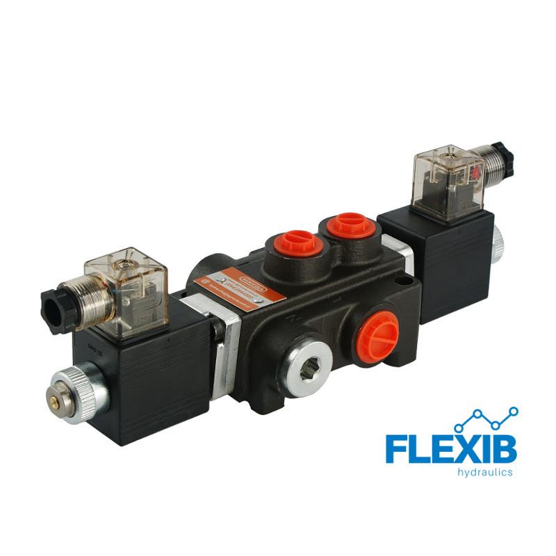 Ühe sektsiooniline jagaja 40L / min elektriliselt juhitav  24V: 24V Z50 ES3 G Kuni 40L / min 24V