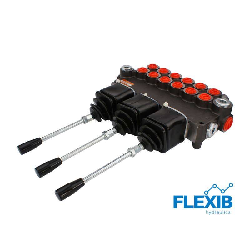 Hüdrauliline jagaja 6 sektsiooni 80L / min kolme juhtkangi Joystick hüdrojagajad kuni 80l/min Hüdrojagajad