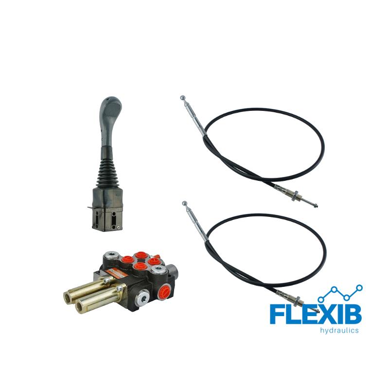 John Deere Hüdrauliline jagaja 2-sektsiooniline 40L / min + joystick + juhtkangi trossid 2x Hüdraulika komplektid kuni 40L / min Hüdraulika komplektid kuni 40L / min