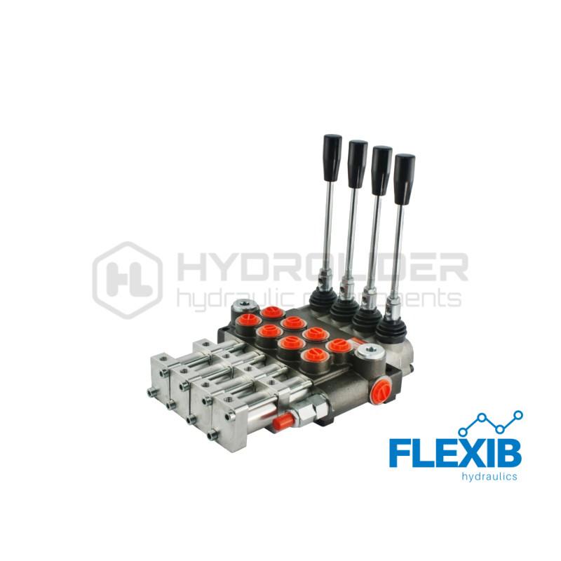 Hüdrauliline jagaja 4-sektsiooniline 40L / min pneumaatiliselt juhitav Pneumaatiliselt juhitavad hüdrojagajad kuni 40l/min Hüdrojagajad