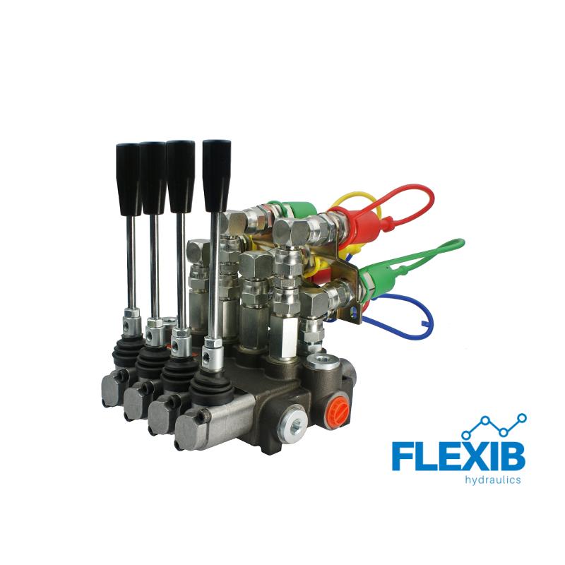 4 sektsiooni hüdrauliline jagaja 40L / min + ISO EURO Kiirliitmikud Hüdrojagajad kuni 40l/min Hüdrojagajad