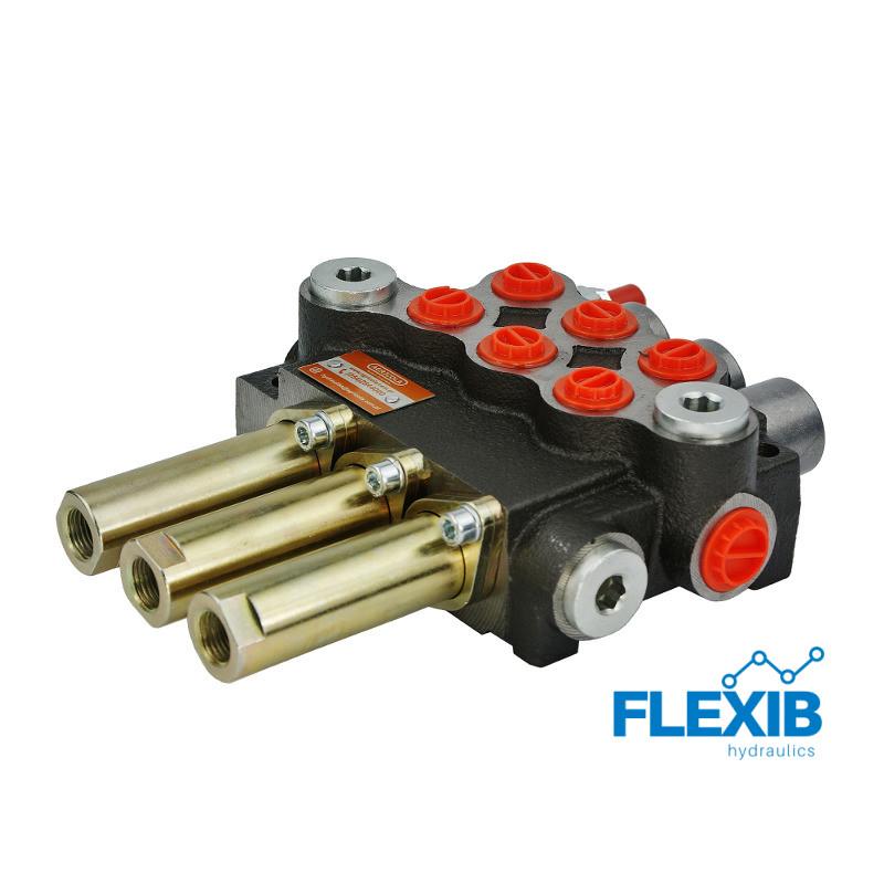Hüdrauliline jagaja 3 sektsiooni 40L / min Joystick ja Juhtkangile Hüdrojagajad Joystick trossidega kuni 40L / min Hüdrojagajad
