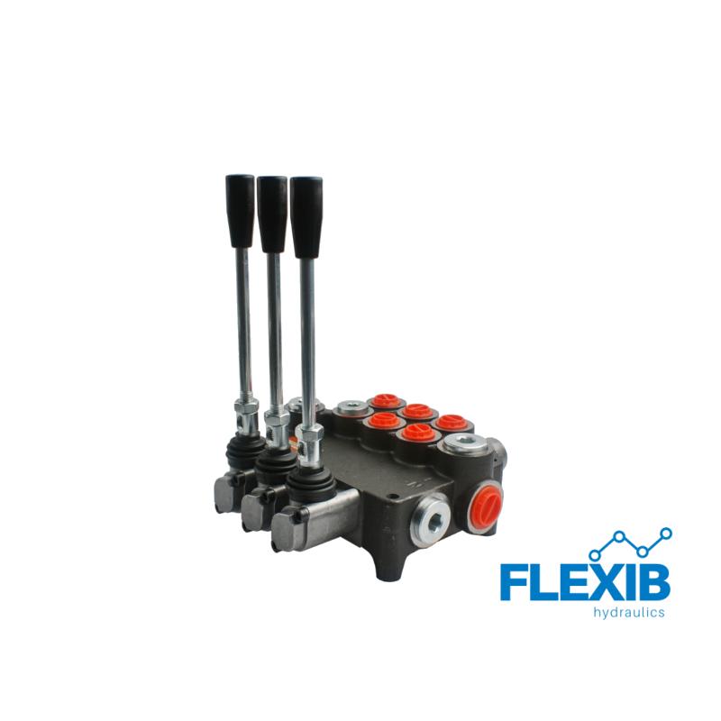 Hüdrauliline jagaja 3-sektsiooniline 80L / min  03P80 A1A1C1 GKZ1 Hüdrojagajad kuni 80l/min Hüdrojagajad