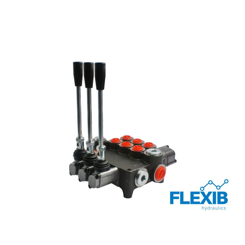 Hüdrauliline jagaja 3-sektsiooniline 80L / min ujuvaga 03P80 A1A1L12 GKZ1 Hüdrojagajad kuni 80l/min Hüdrojagajad