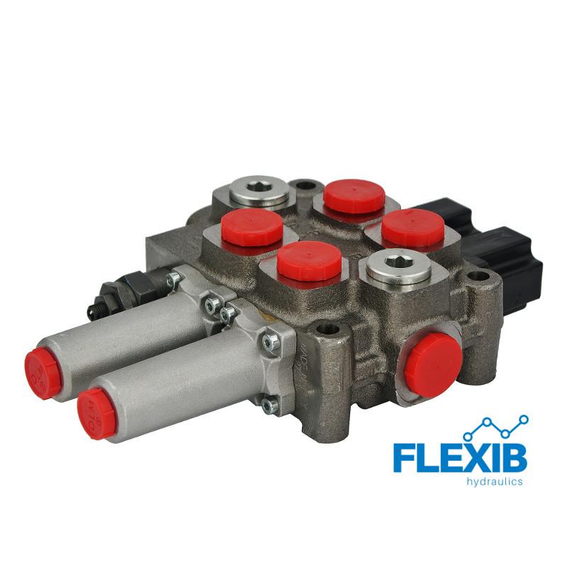 Hüdrauliline jagaja 2 sektsiooni 60L / min Hüdrojagajad Joystick trossidega kuni 60L / min Hüdrojagajad