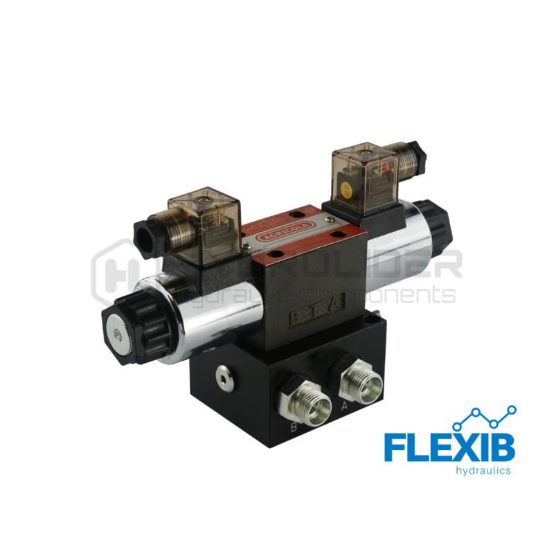 Ühe sektsiooniline jagaja 60L / min plokitüübi CETOP 03 NG6 elektriliselt juhitav 230 Hüdroklapid 230V Hüdroklapid