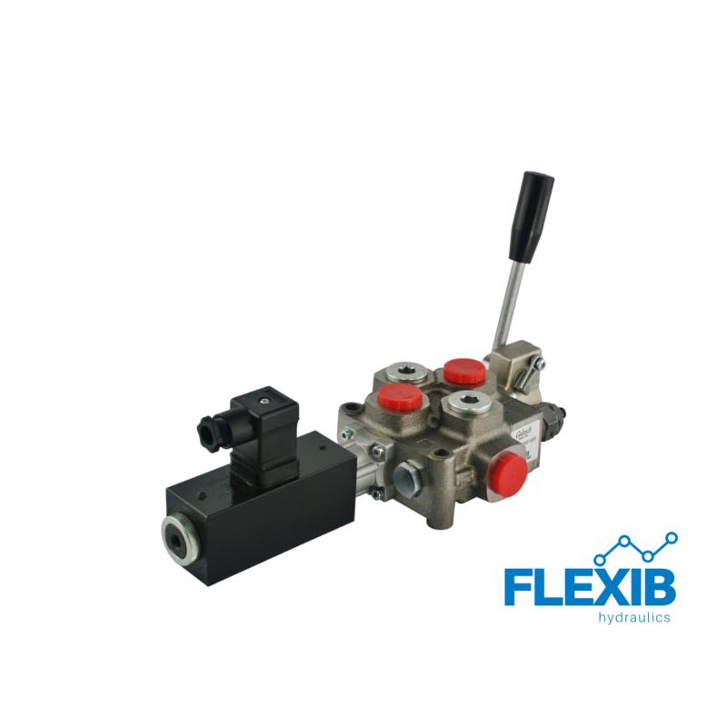 Ühe sektsiooniline jagaja 60L / min elektriliselt juhitav 24V Kuni 60L / min Elektriliselt juhitavad hüdrojagajad 24V