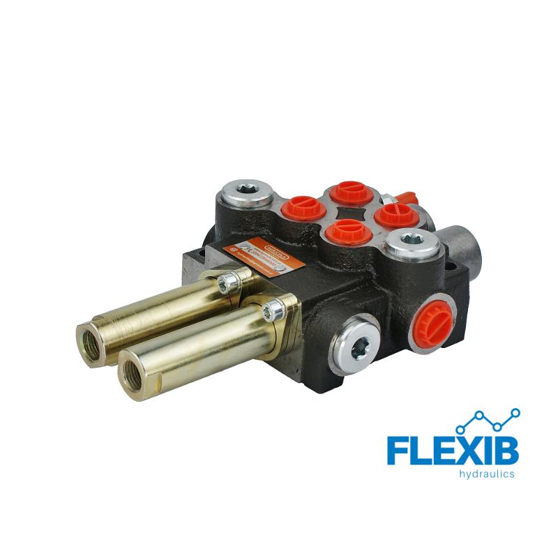 Hüdrauliline jagaja 2-sektsiooniline 40L / min – juhtkangile / joystick Hüdrojagajad Joystick trossidega kuni 40L / min Hüdrojagajad