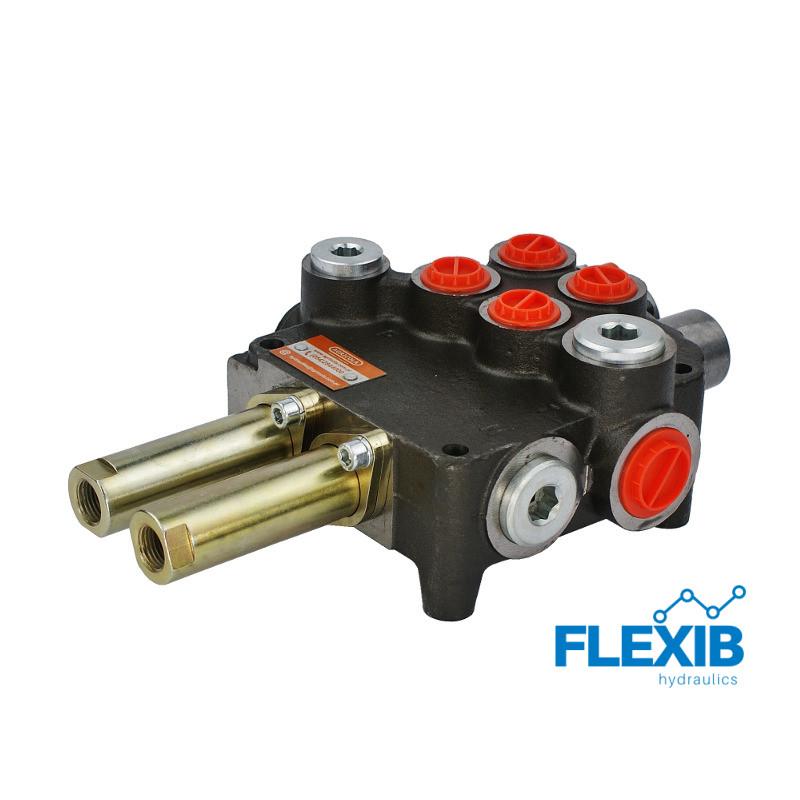 Hüdrauliline jagaja 2 sektsiooni 80L / min  juhtkangile / joystick Hüdrojagajad Joystick trossidega kuni 80L / min Hüdrojagajad