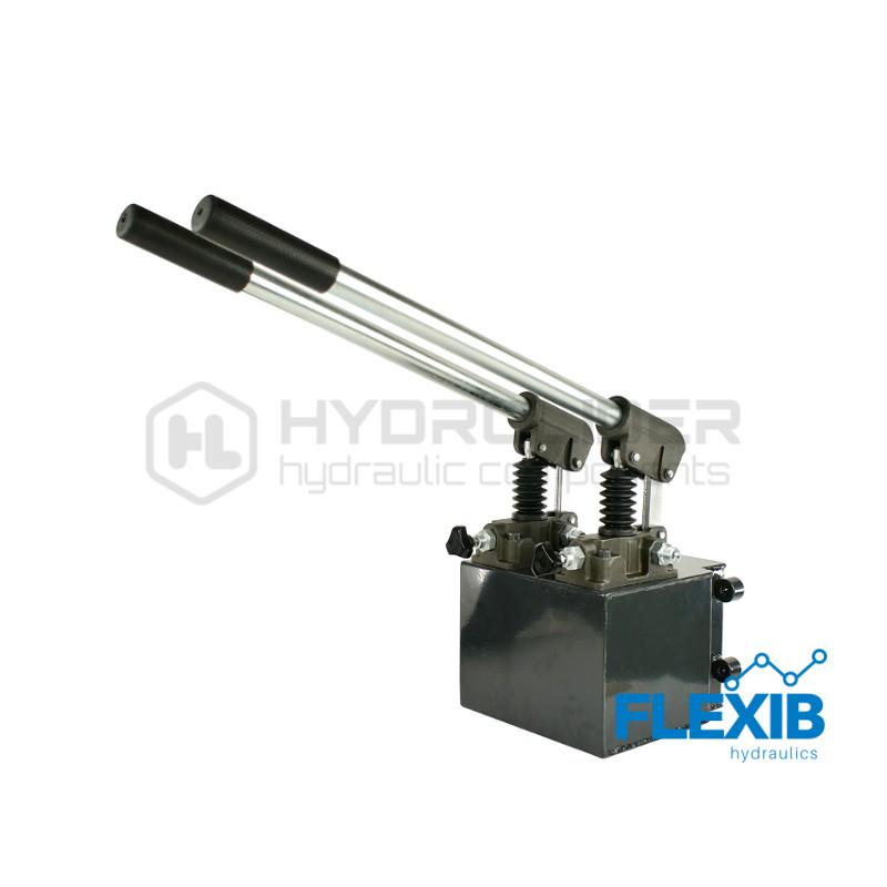 Hüdrauliline käsipump 2-sektsiooni 12cm 12cm paak 6l 2-sektsioonilised käsipumbad 2-sektsioonilised käsipumbad