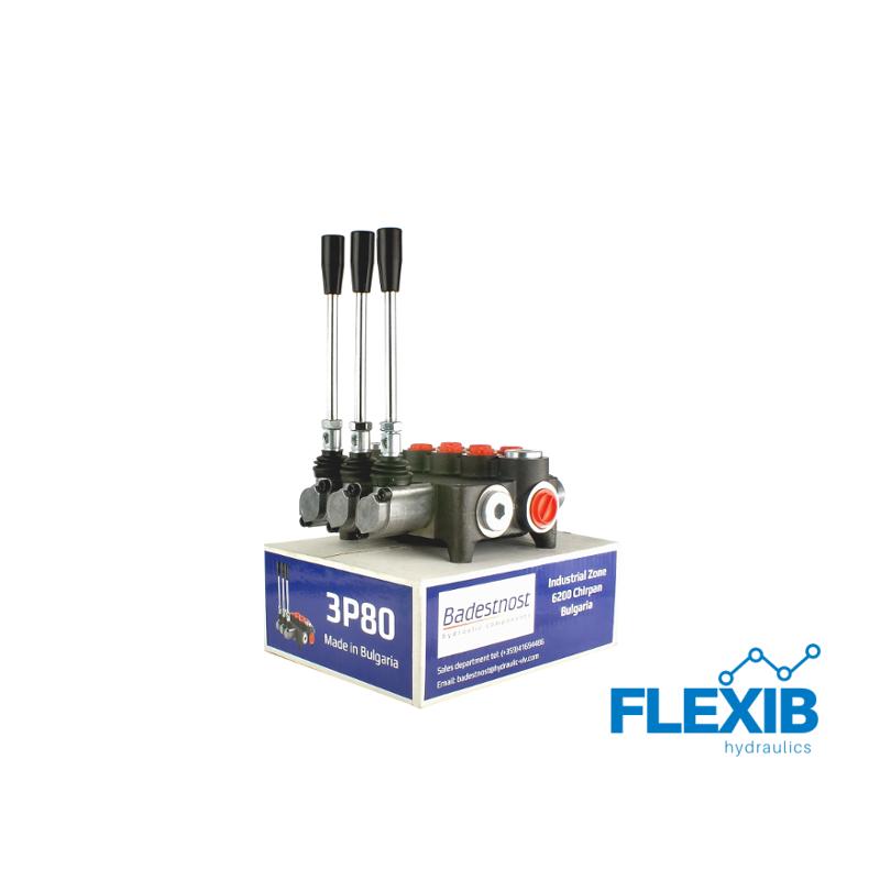 Hüdrauliline jagaja 3 sektsiooni 80L / min : 03P80 A1A1 Hüdrojagajad kuni 80l/min Hüdrojagajad