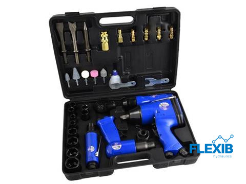 33-osalised pneumaatilised võtmed ja tööriistad Suruõhutööriistad 33-osalised pneumaatilised võtmed ja tööriistad