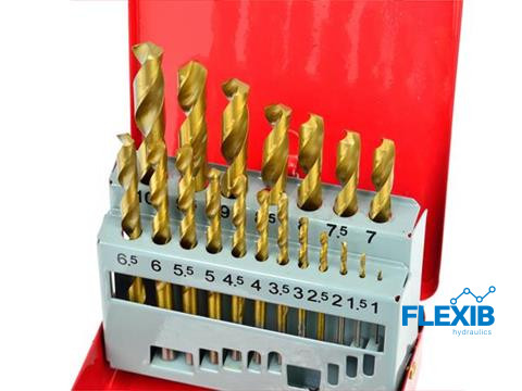 Metallipuuride komplekt 19-osaline 1-10mm Titanium kattega Puurid ja tarvikud Metallipuuride komplekt 19-osaline 1-10mm Titanium kattega