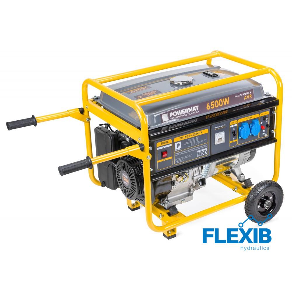 Generaator 6.5kW Generaatorid ja mootorid Elektrigeneraatorid bensiinimootoriga